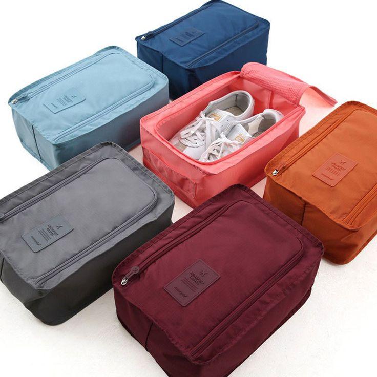 Mode Nylon Mesh Sepatu Pouch Penyimpanan Tahan Air Tas Travel Portabel Tote Korea Style Hadiah 4 Warna