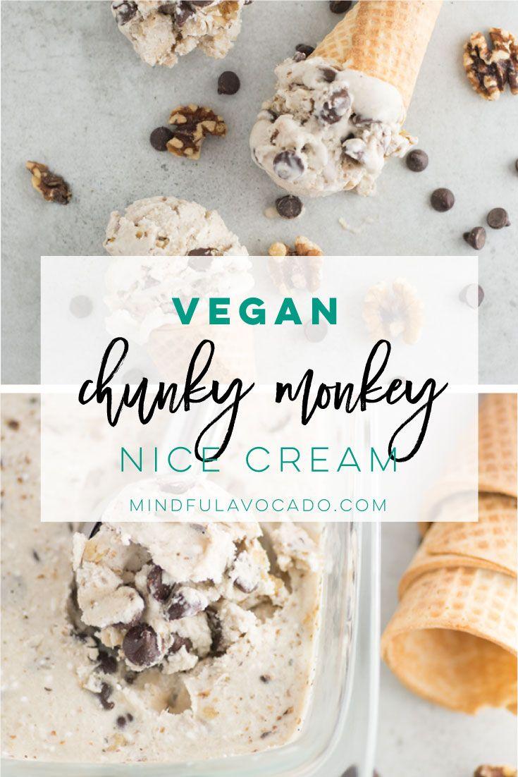 Vegan Ice Cream Aka Nice Cream Uses Frozen Bananas Walnuts And Chocolate Chips This Recipe Is T Banana Nice Cream Healthy Ice Cream Recipes Nice Cream Recipe