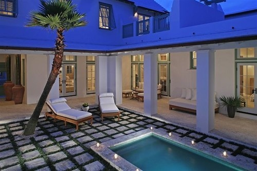 Alys Beach Courtyard - tropical - exterior - other metros - Gary Justiss Architect