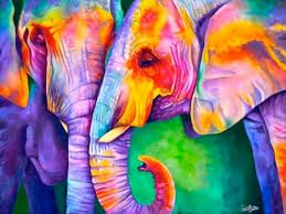 pinturas de elefantes - Buscar con Google