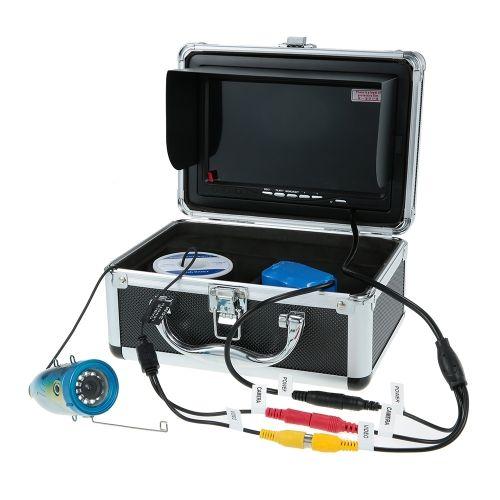 7'' Color Digital LCD 1000TVL Fish Finder 120 Degree HD DVR Recorder Waterproof Fishing Video Camera Monitor Underwater Fishing Camera 15M/30M Cable EU/US Plug