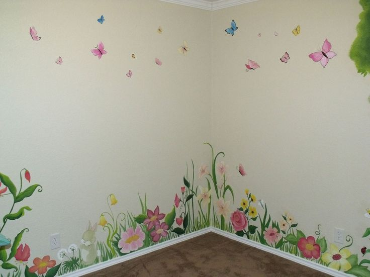 Best 25 garden mural ideas on pinterest mural painting for Fairy garden wall mural