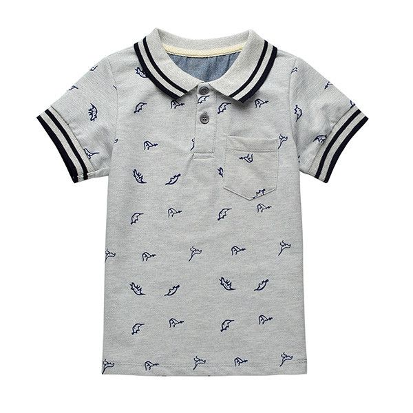 Boys Cotton Polo Style Top - Sizes 2T To Size 7