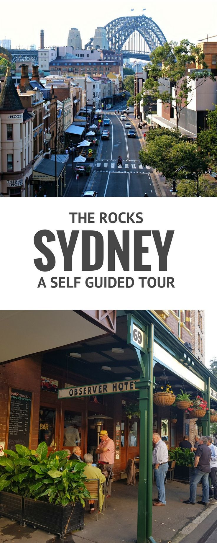 Take a 2 hour self guided tour of the Rocks in Sydney with this easy to follow guide.
