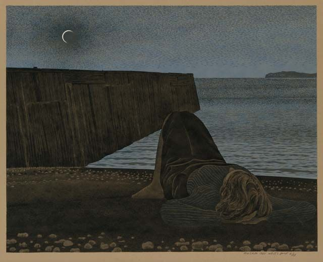 "Alex Colville, ""New Moon,"" 1980"