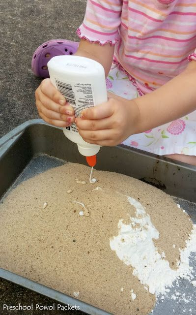 Dinosaur Fossils With Sand Dough | Preschool Powol Packets