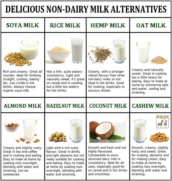 #vegan delicious non-dairy milk alternatives  Oat milk is always a winner....