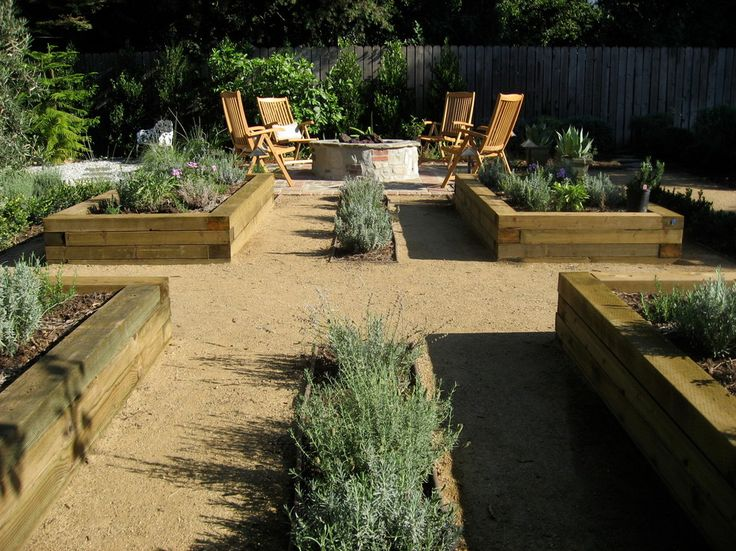 Marvelous Railroad Ties vogue Los Angeles Contemporary Landscape Innovative Designs with edible garden fence firepit herb garden Mediterranean outdoor chairs pavers planter boxes raised beds