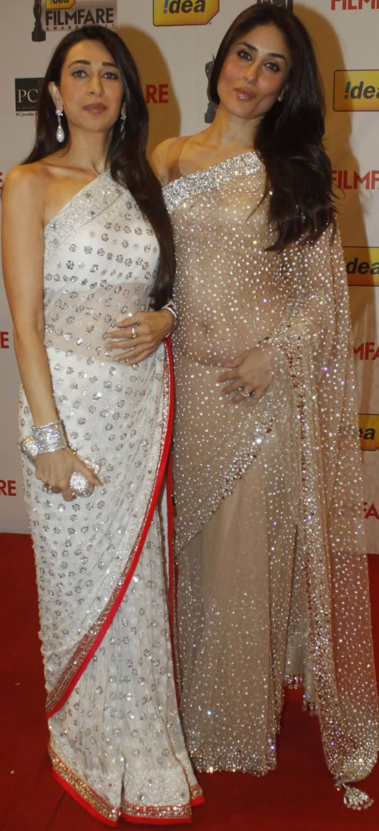Kapoor Sister Style Saree | For More collection of #Celebrity #Saree #Collection @ www.prafful.com