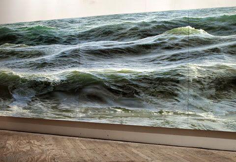 Ran Ortner-Open Water (Oil paint)