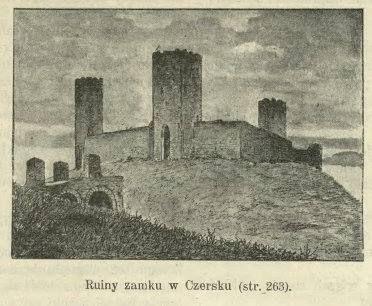 Zamek Czersk, grafika z 1900 r.