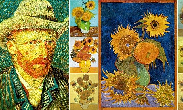 Dazzling us again after 70 years, Van Gogh's long-lost sunflowers: He