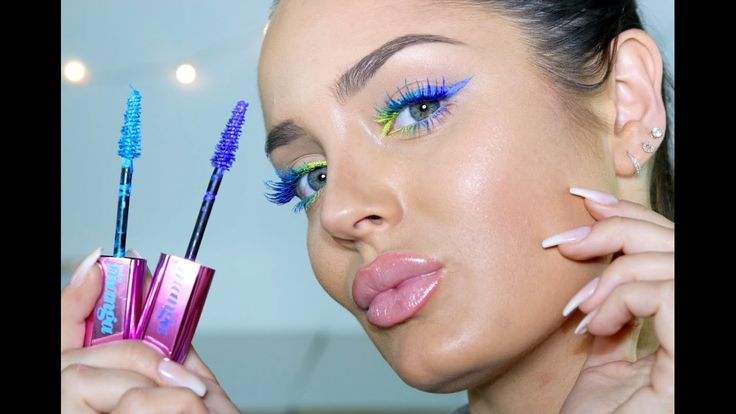 Multicoloured Neon Lashes AND Liner! Fun Make Up Tutorial