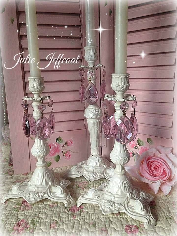 My Vintage Shabby Candle Holders