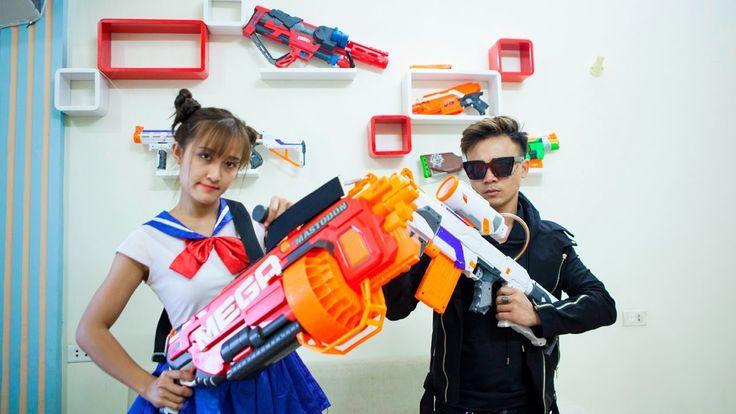 Superhero action Horror movie Sailor Moon Girl Nerf guns Zombie real lif...