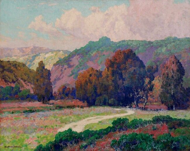 "Early California painter, Maurice Braun (1877-1941) ""Road To The Canyon"""