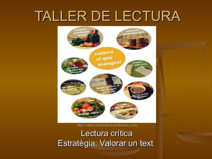 taller-de-lectura-lectura-crticaopinar-i-decidir by Beatriu Palau via Slideshar#ILEC