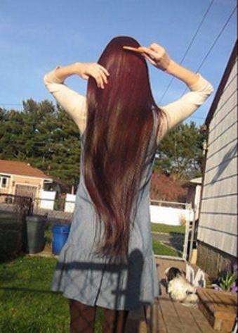 Beautiful long red/brown hair