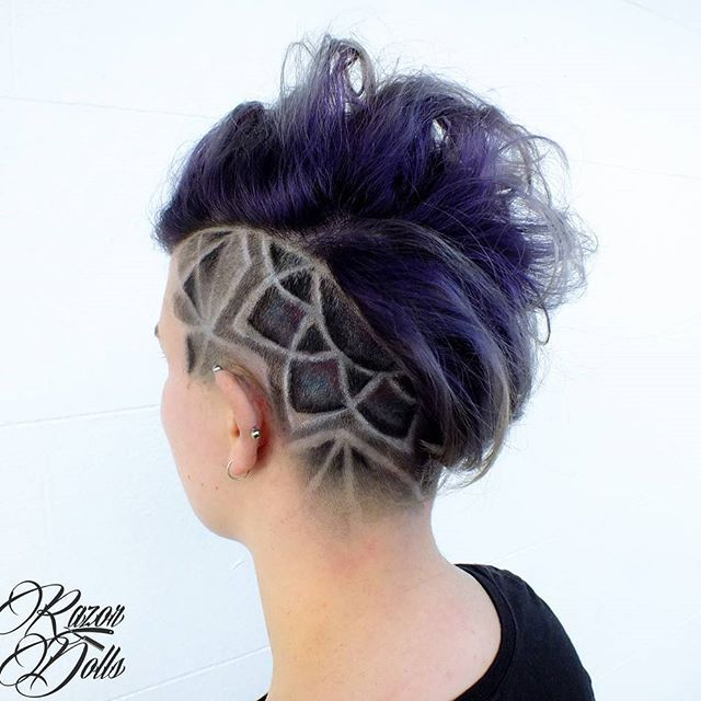 Shaved In Hair Designs 60
