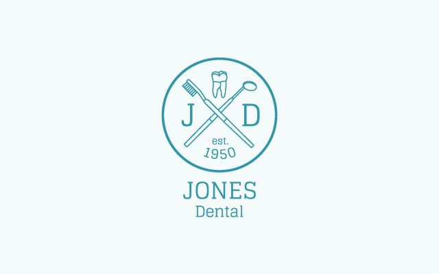 First, this idea came from a designer pack of pre-made logos. Second, it's never a good idea for a dentist to incorporate dental tools into their logo. It's not the most pleasant part of the dental experience for a patient.