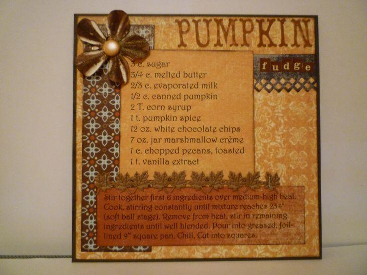 scrapbook recipe book | Cookbook Club – October 2010 | Charla Fraley – Stampin'Wizard