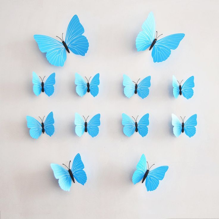 Nice 12 Pcs/Lot PVC 3D Butterfly Wall Stickers Decals