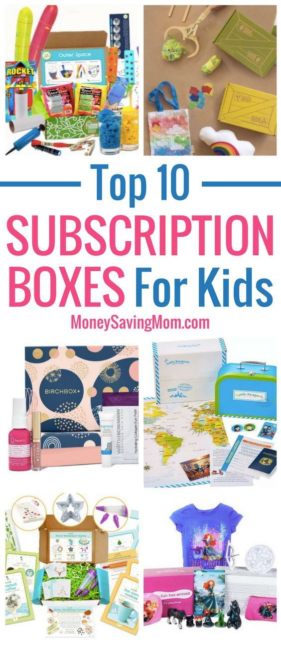 These top 10 subscription boxes for kids make great NON-toy gift ideas for Christmas!!