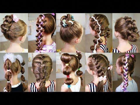 Styles de cheveux pour l'école (3) 10 mignonnes coiffures de 3 minutes pour une matinée bien remplie! Des coiffures rapides et faciles pour…