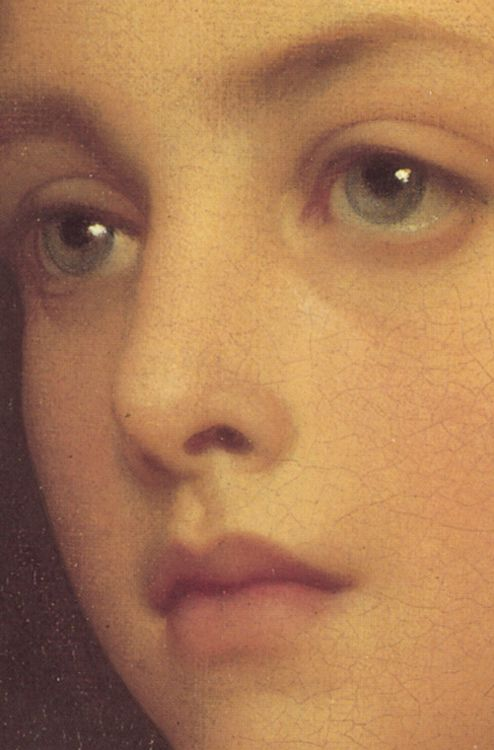 Biondina,1879 Frederic Leighton (detail) - AN INCREDIBLY BEAUTIFUL FACE, LIKE NO…
