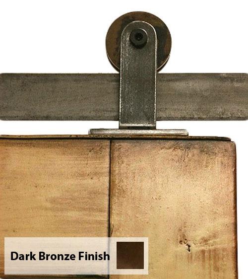 Details About Top Mounted Barn Door Hardware Dark Bronze