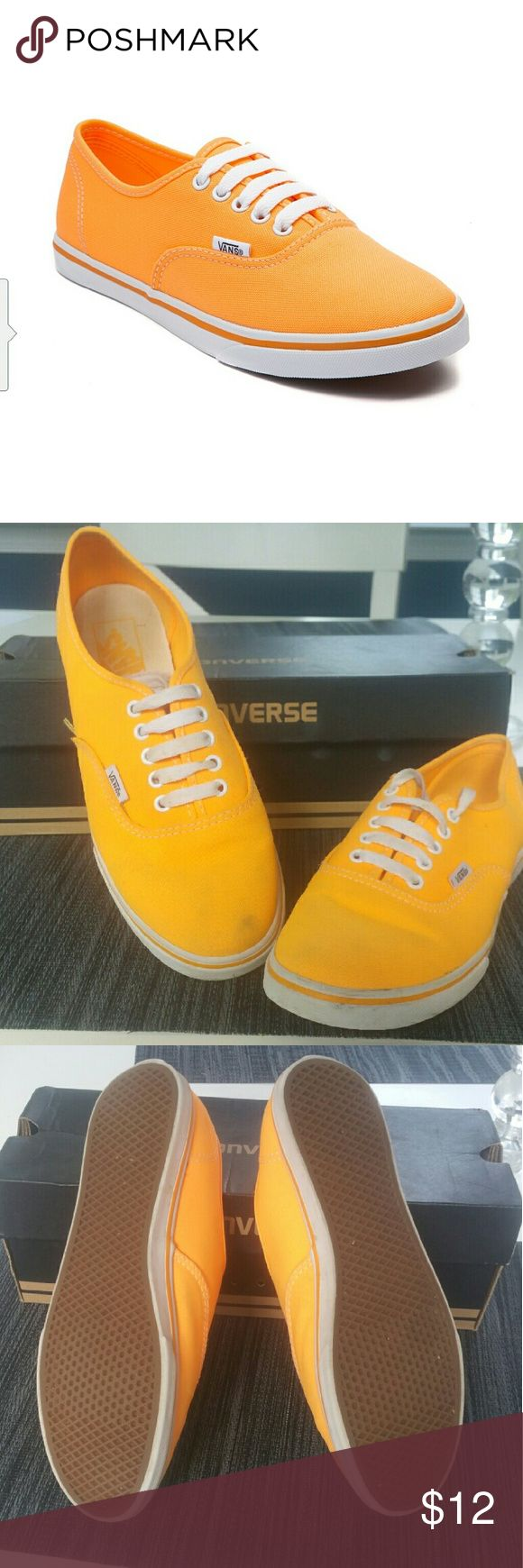 Vans Authentic Lo Pro Skate Shoe Vans Authentic Lo Pro Skate Shoe, Orange Size 9 in good condition Only some stains See pictures for details Vans Shoes Sneakers