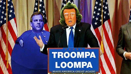 Donald Trump diventa un Umpa Lumpa (GIF + VIDEO) http://staypulp.co.vu/post/140501435544/donald-trump-diventa-un-umpa-lumpa-gif-video#.Vts3nPnhDcs
