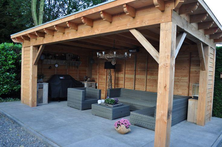 Overkapping | Tuinhuis | Particuliere tuin | Snoeren Cultuurtechniek | Tuin | Etten-Leur | Hoveniers | Bestrating