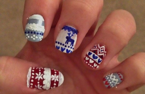 Christmas Nail Art Cute Little Snowman Nails Pinterest