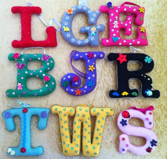 Felt Letters Fabric Decorative Initial Letters on by BellaBuds