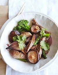 Beef and shitake mushroom stir-fry.