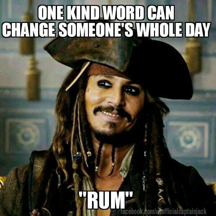 "ONE KIND WORD CAN CHANGE SOMEONE'S WHOLE DAY = ""RUM"""