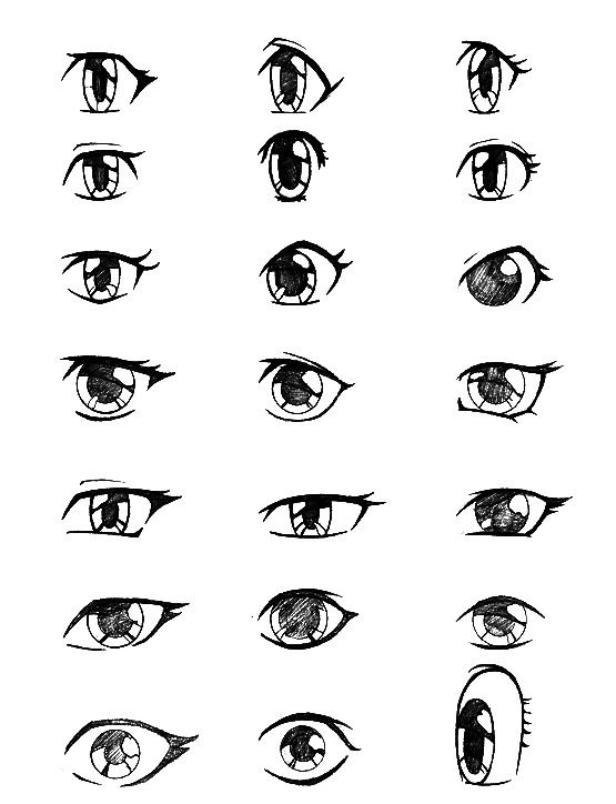 In step by step drawing lesson how to draw a manga eyes
