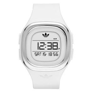 Adidas ADH3032 Denver horloge. Een wit sporthorloge van Adidas. Het horloge is sportief en makkelijk in gebruik. Functies als datum, stopwatch en alarm vindt terug op dit stoere horloge. Het horloge is waterdicht tot 5ATM. U kunt gerust douchen met dit Adidas ADH3032 horloge. Bestel uw Adidas horloge bij Kish.nl