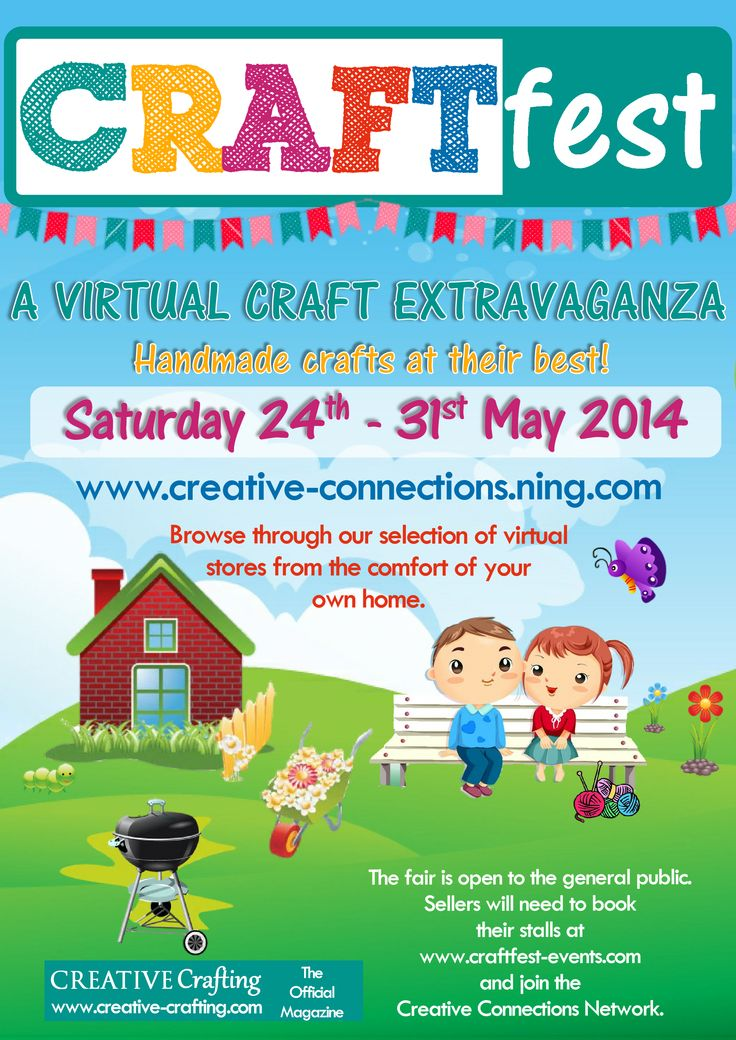 Join the first #CRAFTfest event of 2104! Grab your spot now and get a FREE digital copy of the latest Creative Crafting Magazine. www.craftfest-events.com