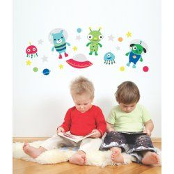 Little Boo-Teek - Decals and Stickers Speckled House Wall Decal - Outta Space $42.95 www.littlebooteek.com.au #littlebooteekau #presents #kids #bedroom #playroom #decals #wallstickers