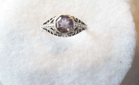 Push Present,  Gift For The New Mom, Edwardian Style, Dainty Ring, Gemstone Ring, Amethyst Ring,  Christmas Present, By GreatOceans by GreatOceans on Etsy https://www.etsy.com/listing/468085188/push-present-gift-for-the-new-mom