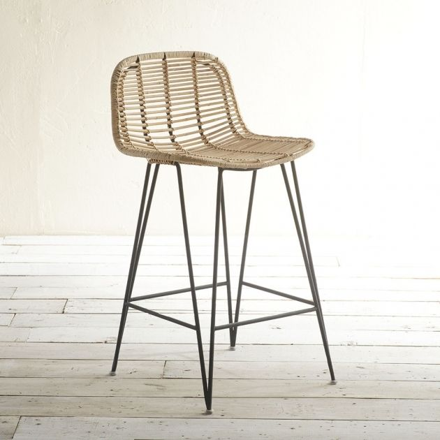 Stunning Furniture Unique Rattan Counter Stools With Back And