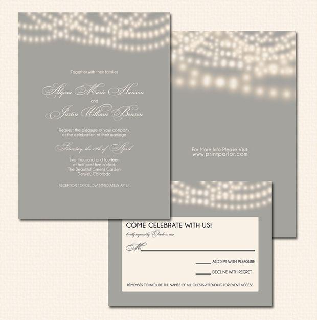 String Lights Wedding Invitation : String Lights Wedding Invitation Fonts, The o jays and Wedding
