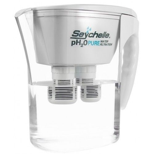 seychelle ph2o pure alkaline water filter pitcher large gift free ship