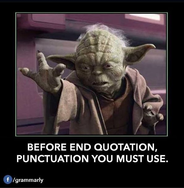 Funny Memes For Punctuation : Yoda teaching grammar oh boy language pinterest