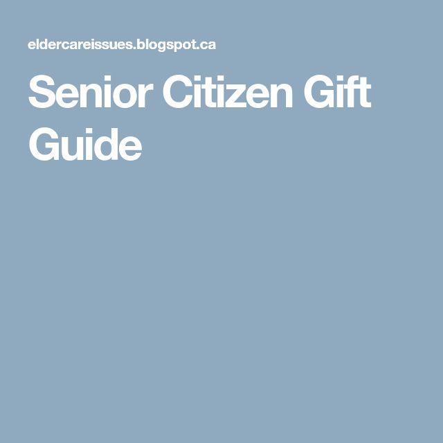 Senior Citizen Gift Guide