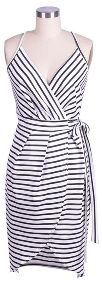 We got a better way to show you. Only $18.99! You are sure to turn heads with this Prime of Life Stripe Slip Dress. Give this dress even more pop! Get more choices at Cupshe.com !