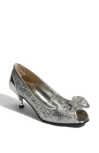 Silver Kitten Heel