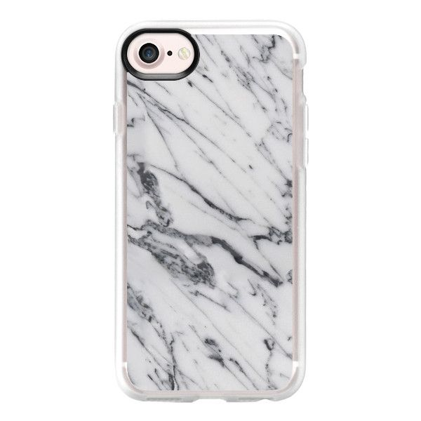 Gray Mistery Marble - iPhone 7 Case And Cover ($40) ❤ liked on Polyvore featuring accessories, tech accessories, phone, case, iphones, phone cases, iphone case, apple iphone case, clear iphone case and iphone cases